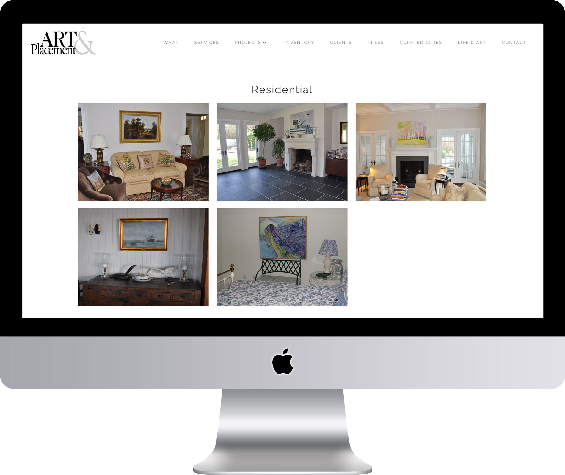 Maleka Designs Website for Art & Placement