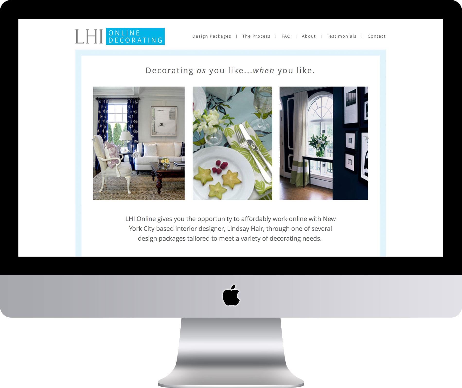 Lindsay Hair Online Website by Maleka Designs