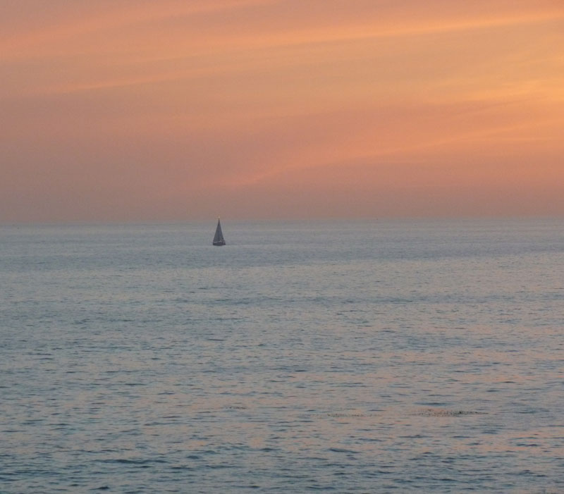 Laguna Beach Sailboat Sunset