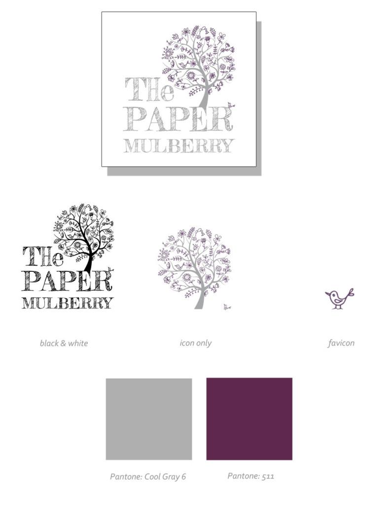 Paper Mulberry Logo Design