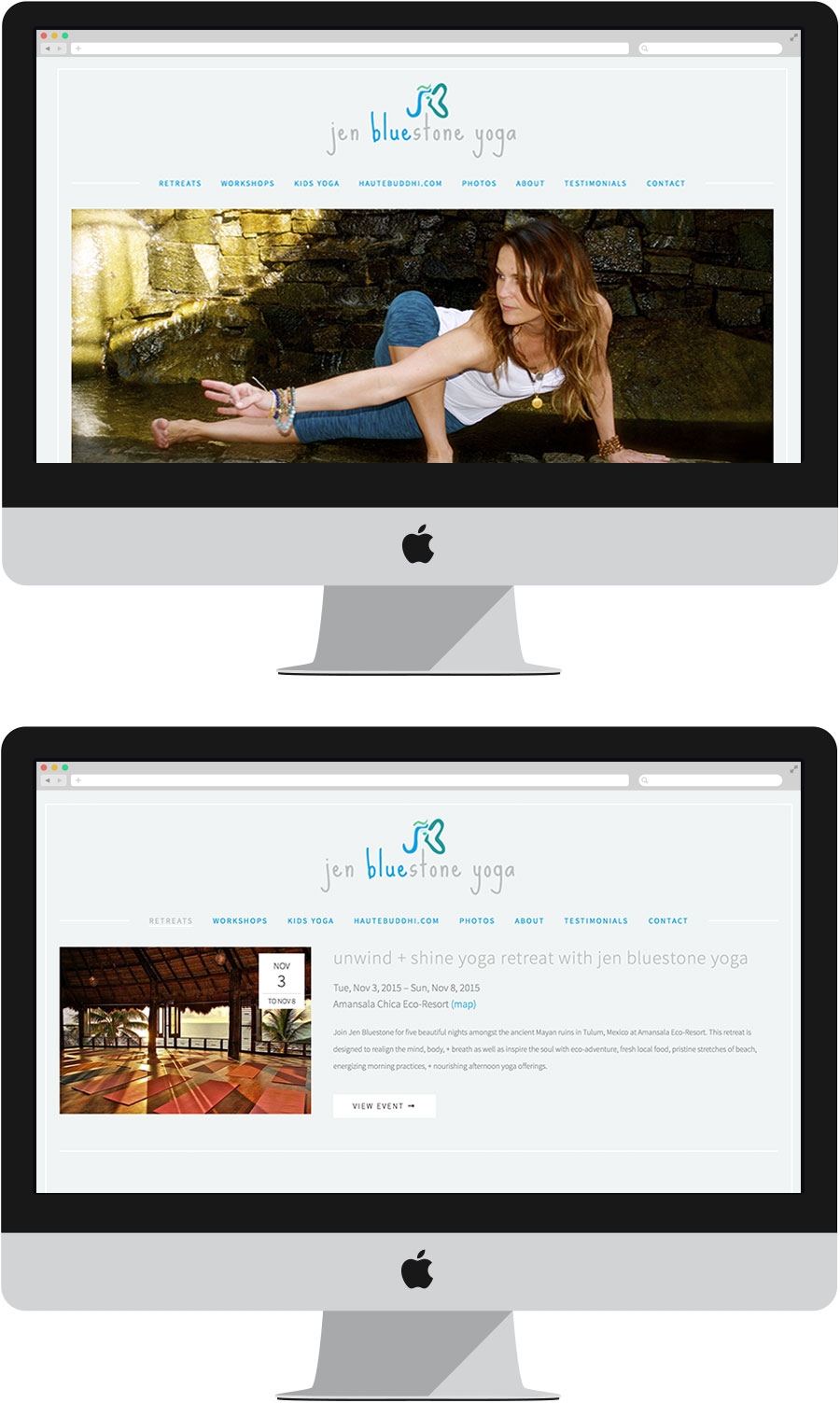 Jen Bluestone Website and Logo Design