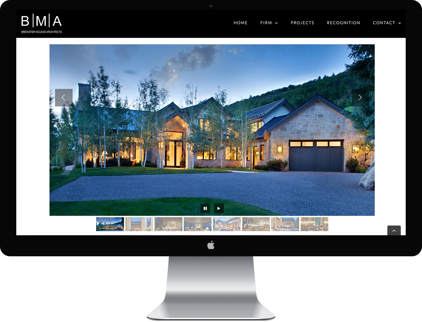 Brewster McLeod Aspen Architects Website Design
