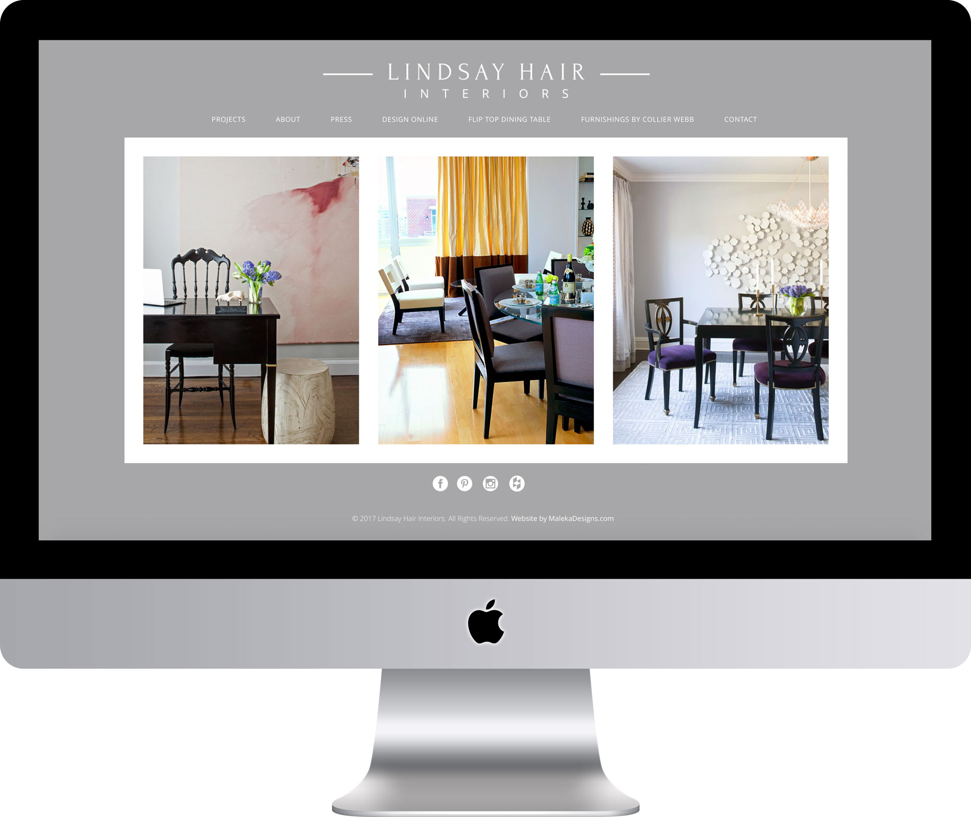 Lindsay Hair Interiors Website by Maleka Designs