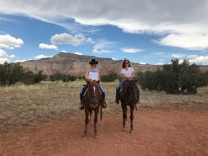 horse back riding at Ghost Ranch