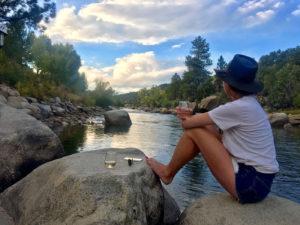 Enjoying the Arkansas river in Buena Vista Colorado